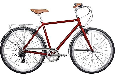 a64f0ce2350 Image Unavailable. Image not available for. Color: Gama Bikes Men's  Metropole 8 Speed Shimano Hybrid Urban Commuter Road Bicycle ...
