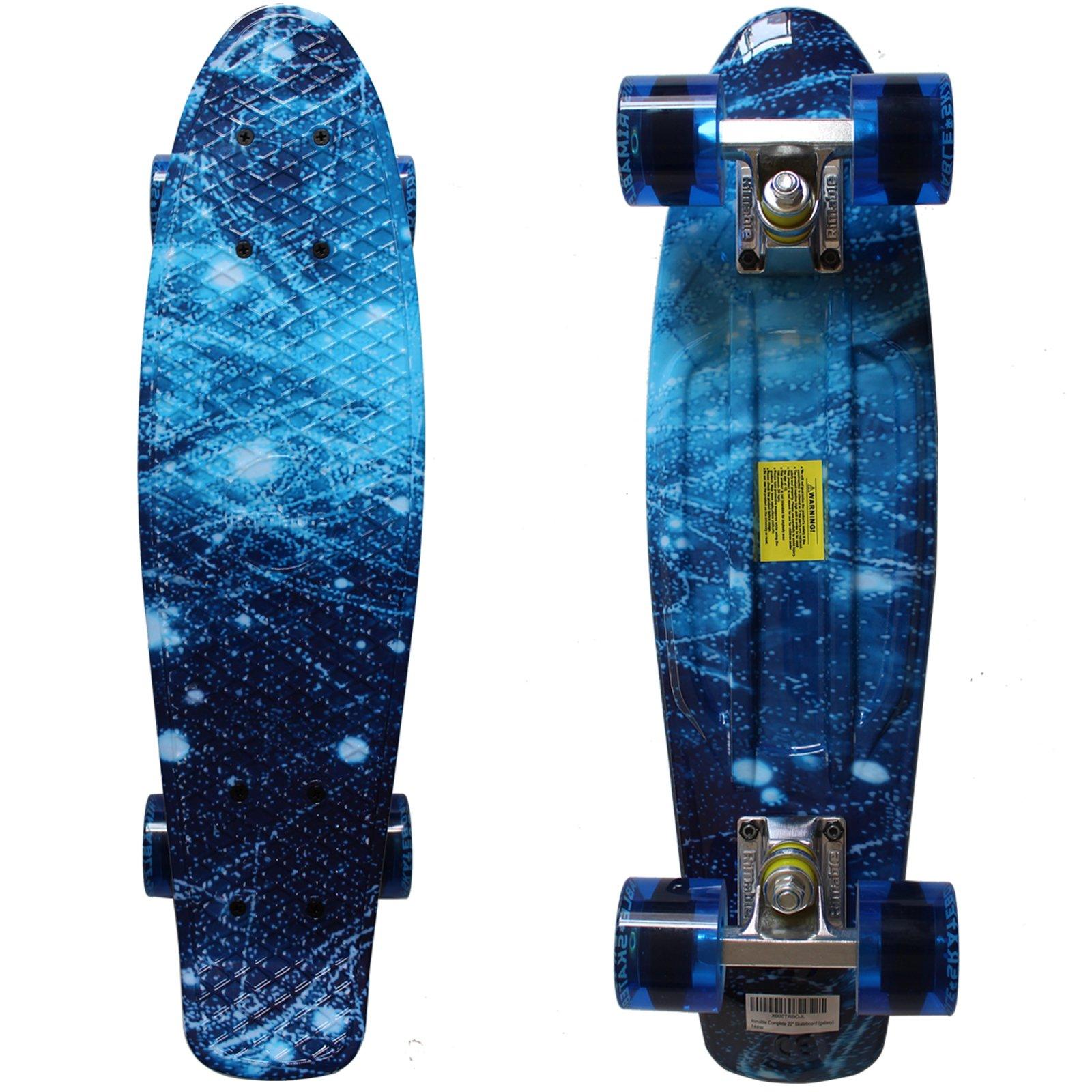 Complete 22\u0026quot; Long x 6\u0026quot; Wide Skateboard Galaxy Penny Style Deck Board Fun Sport 702874769129  eBay