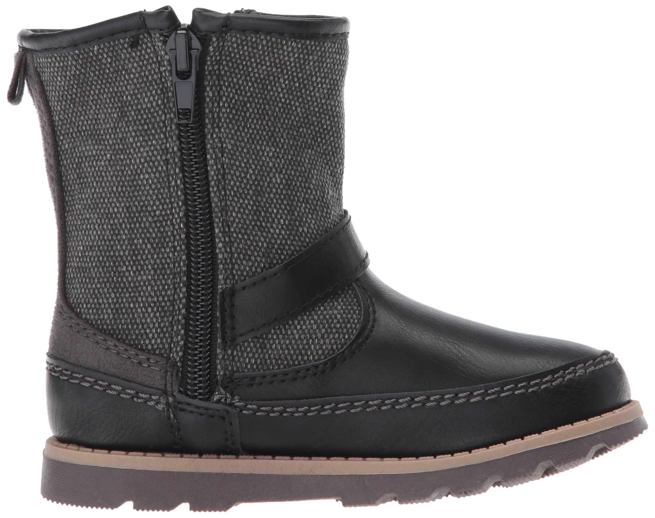 Carter's Boys' Galaway Fashion Boot, Black/Grey, 11 M US Little Kid by Carter's (Image #7)