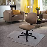 "Kuyal Carpet Chair Mat, 48"" x 36"" PVC Home Office Desk Chair Mat for Floor Protection, Clear, Studded, BPA Free Matte…"