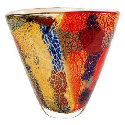 Amazon Luxury Lane Hand Blown Multicolor Abstract Art Glass
