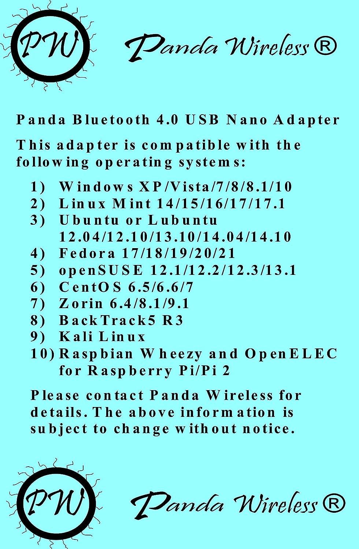 Panda Bluetooth 4 0 USB Nano Adapter - Class 2 Smart Ready w/ Low Energy  Technology - Windows XP/Vista/7/8/8 1/10, Mint 14/15/16/17/17 1, Ubuntu