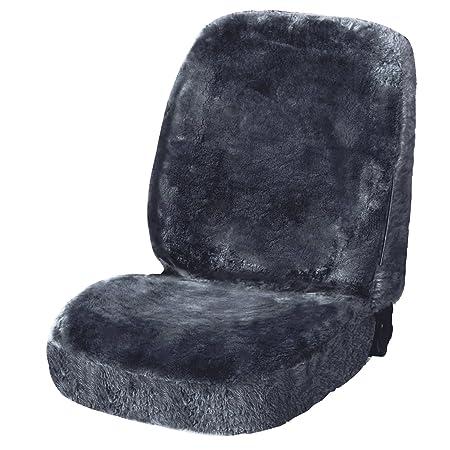 WOLTU AS7335gr echt Lammfellbezug Sitzbezug f/ür PKW ohne Seitenairbag grau