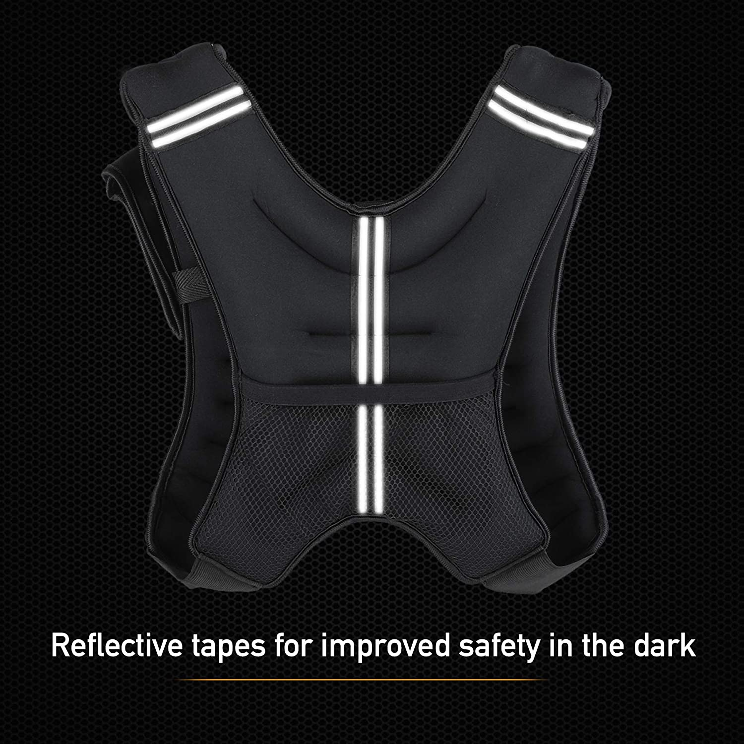 Running Weight Loss Weightlifting Strength Training ZELUS Weighted Vest 12 lb Weight Vest w//Reflective Stripe for Workout Fitness Muscle Building