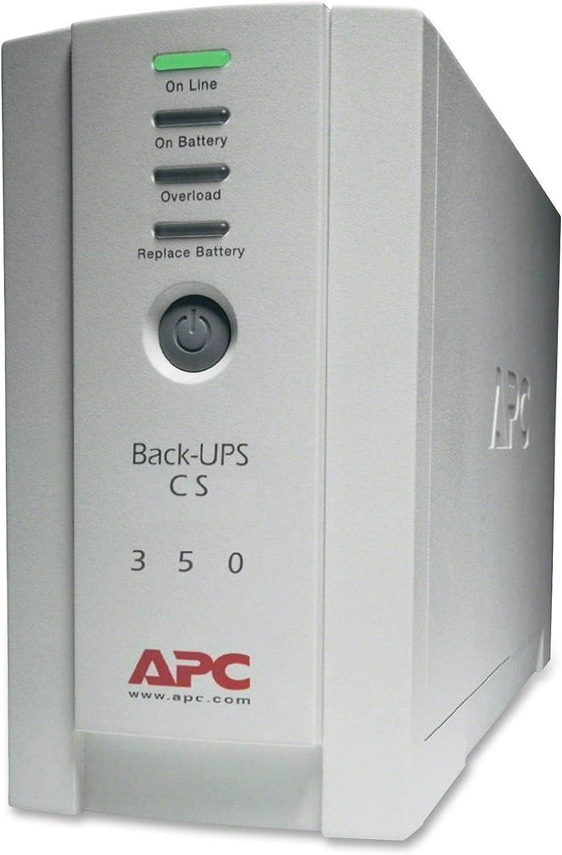 APC BK350 - Back-UPS CS Battery Backup System Six-Outlet 350 Volt-Amps
