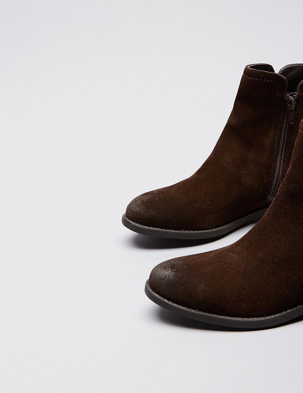 Amazon-Marke: find. Damen Chelsea Boots mit seitlichen Cutouts Braun Congo
