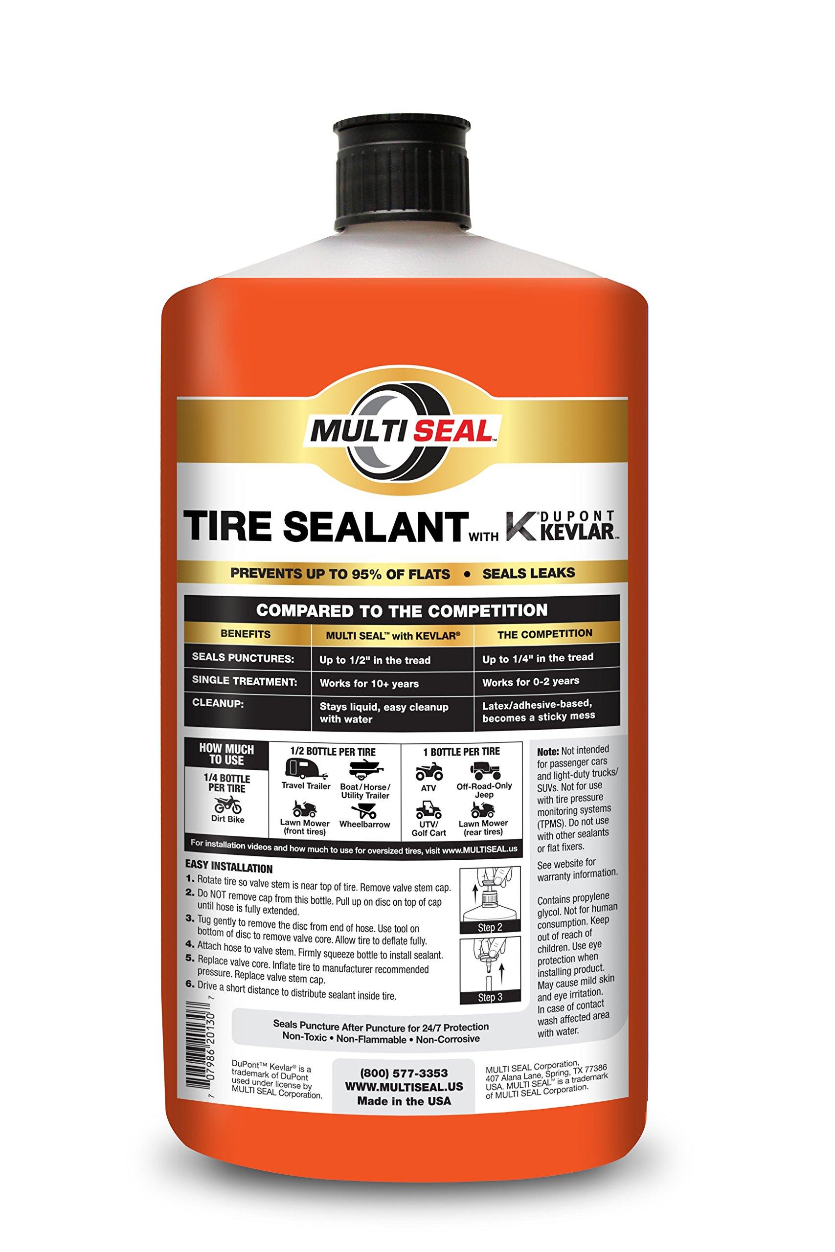 MULTI SEAL Tire Sealant with KEVLAR — Sportsman Formula, 32 fl. oz by MULTI SEAL (Image #2)