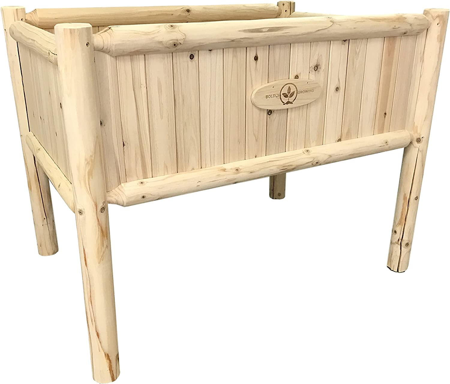 Boldly Growing Raised Planter Box with Legs – Elevated Outdoor Patio Herb Garden Kit to Grow Herbs and Vegetables Tall