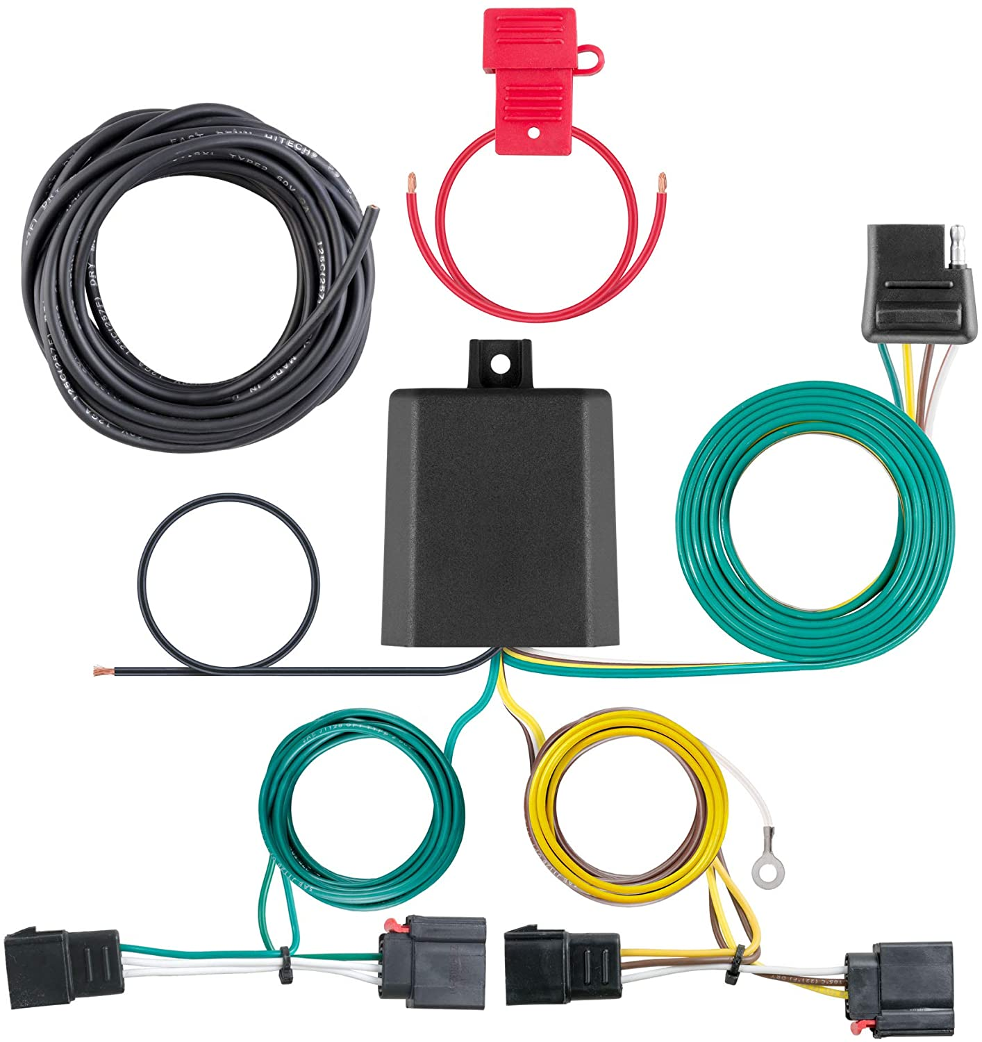 CURT 56230 Vehicle-Side Custom 4-Pin Trailer Wiring Harness for Select Dodge Challenger