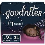 Goodnites Bedwetting Underwear for Girls, L/XL, 34 Ct, Discreet
