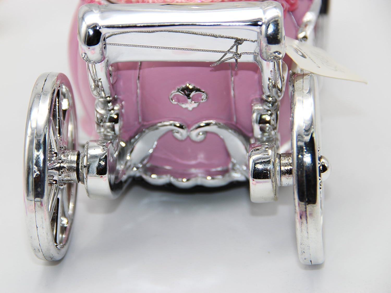 NON ROCK color rosa Caja de m/úsica con bola de nieve de cristal con m/úsica de Castle in The Sky a cuerda