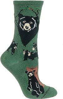 product image for Wheel House Designs Black Bear Womens Argyle Socks (Shoe size 6-8.5)