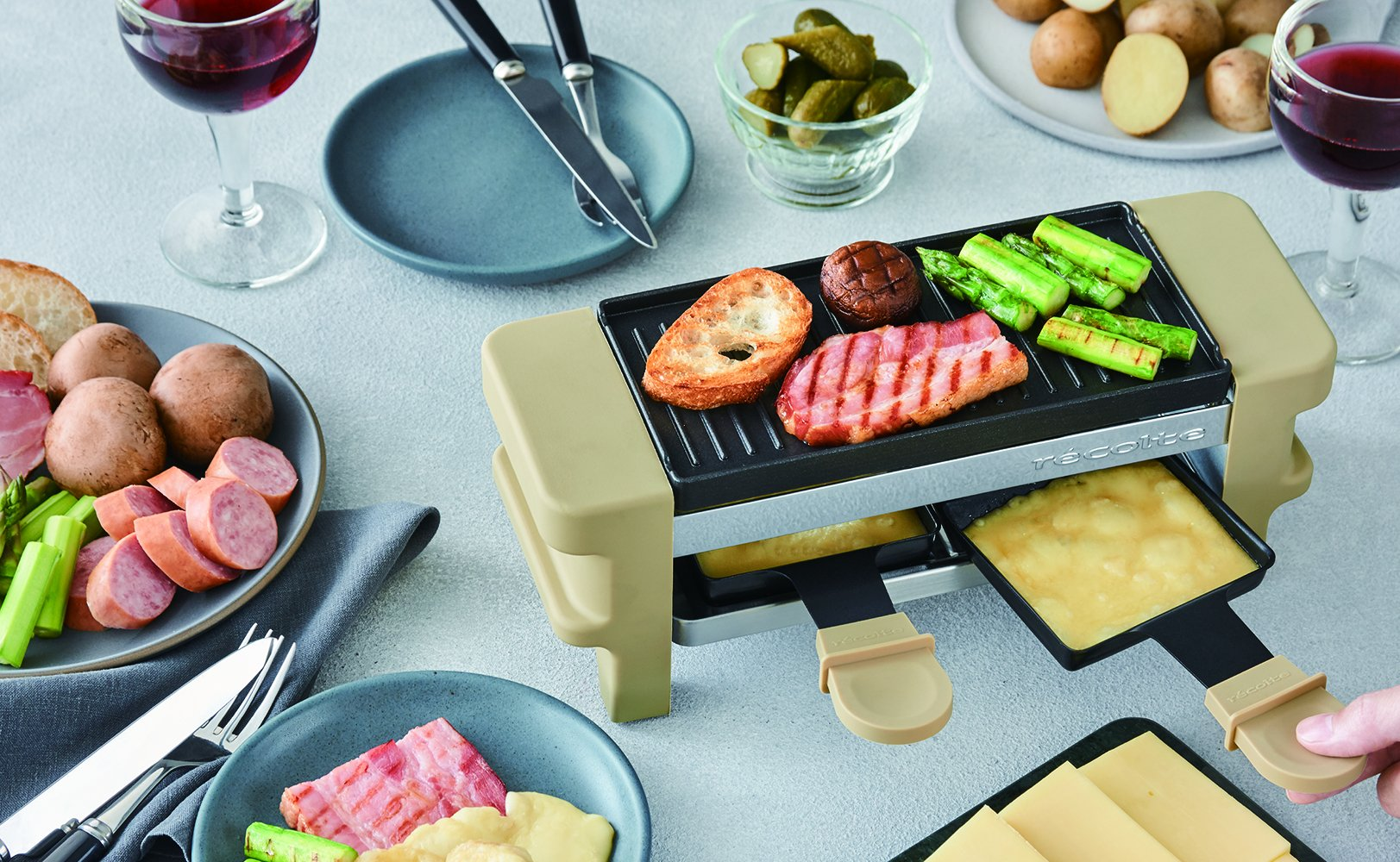 recolte''Raclette & Fondue Maker Melt'' (Beige) RRF-1(BE)【Japan Domestic Genuine Products】【Ships from Japan】 by Recolte (Image #7)