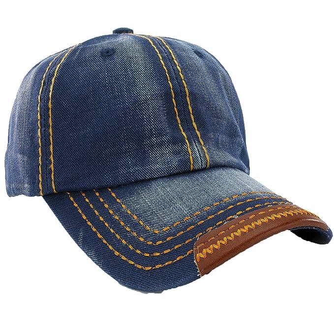 00a91c4b4ce01 Unisex Algodón Star Gorra de béisbol Deporte Gorro Gorra de béisbol con  Snap Back Trucker mfaz Clubmaster Ltd Jeans Blue L XL  Amazon.es  Ropa y  accesorios