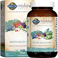 Garden of Life mykind Organics Whole Food Multivitamin for Men 40+, 60 Tablets, Vegan Mens Multi for Health, Well-being…