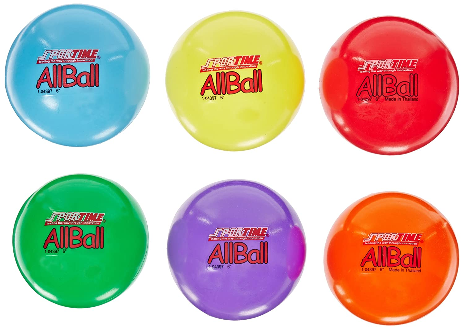Assorted Colors 2-1//2 Sportime 1478718 Smallest Playground Ball Set Pack of 6