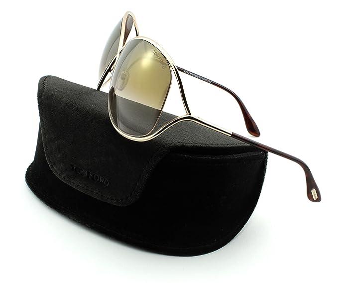 f97a98486f5 Tom Ford FT 0130 Miranda Women Metal Geometric Sunglasses (Shiny Rose Gold  Frame