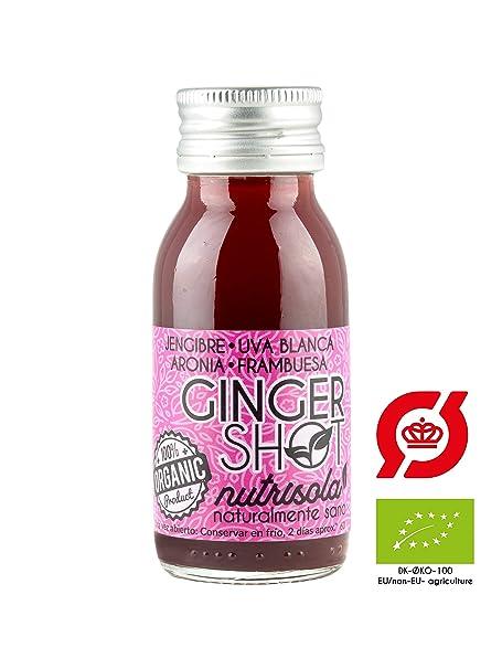 Ginger Shot | 100% certificado ecológico | 30% de Zumo natural de Jengibre recién