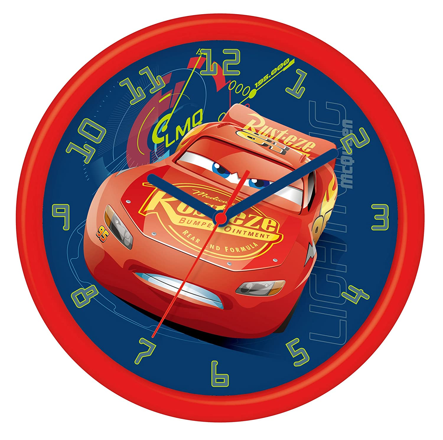 Disney Cars 3 - Wall clock in a plastic gift box, Multicolor, 24 cm Spiderman DC300