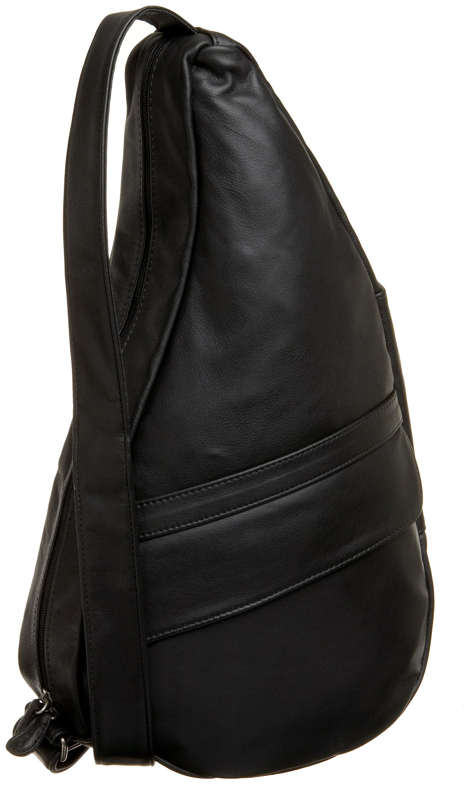 AmeriBag Classic Leather Healthy Back Bag tote Medium,Black,one size