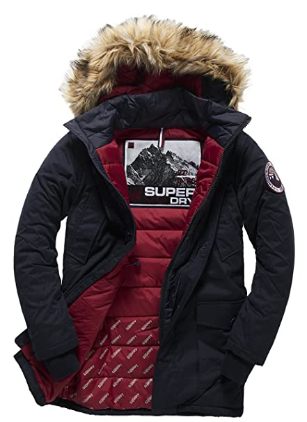 Peaks Twin Superdry para Impermeable Hombre Everest JacketAbrigo PkTlOXZiwu
