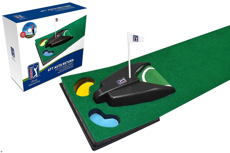 0bd529a94a PGA Tour PGAT52 - Alfombra de golf con retorno automático  Amazon.es   Deportes y aire libre