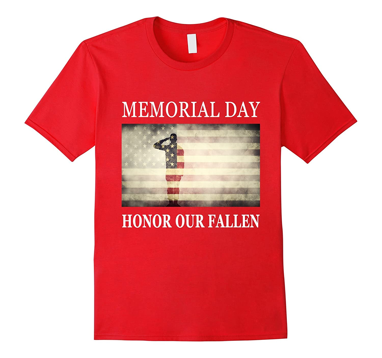 Honor Our Fallen - Salute Military Memorial Day T-Shirt-Art