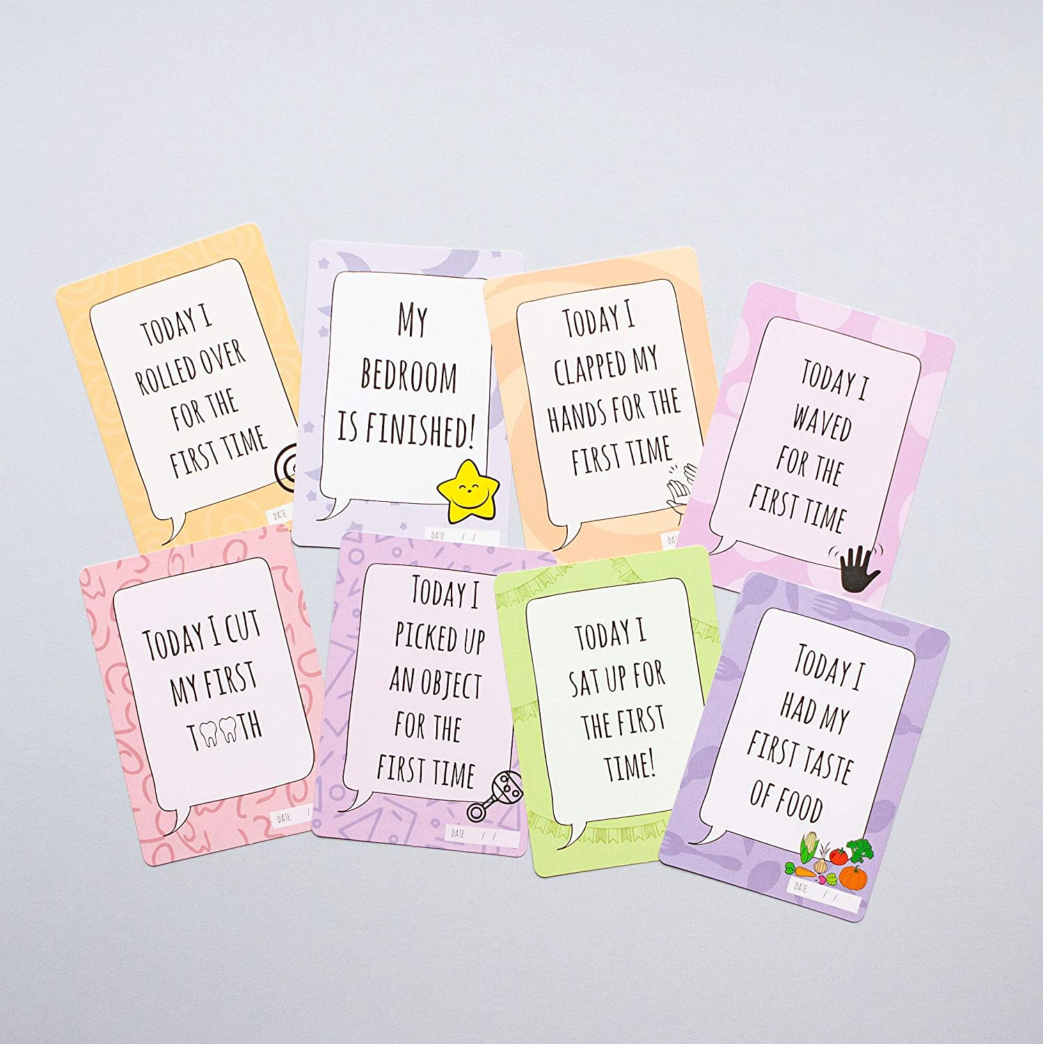 Baby Milestone Cards with Keepsake Box Ideal Baby Shower Gift for Expectant Parents for All Types of Family