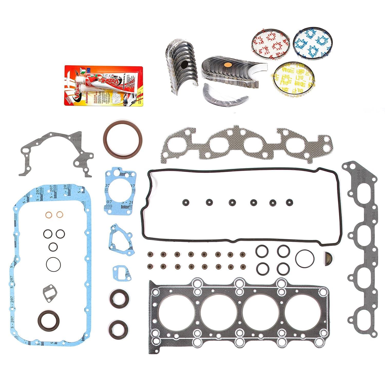 Domestic Gaskets Engine Rering Kit FSBRR8004EVE\2\0\0 99-03 Suzuki Chervrolet 1.8 2.0 DOHC J18A J20A Full Gasket Set, Standard Size Main Rod Bearings, 0.50mm / 0.020' Oversize Piston Rings 0.50mm / 0.020 Oversize Piston Rings