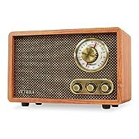 Deals on Victrola Retro Wood Bluetooth FM/AM Radio w/Rotary Dial