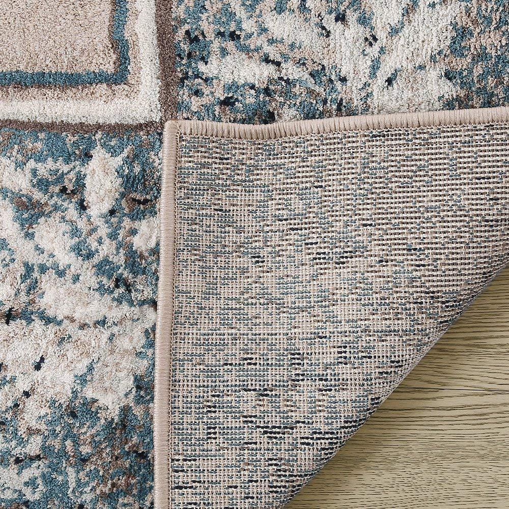 LNC Indoor Vintage Distressed Polyester Mat Area Rug Living Room Bedroom 65 x 9 Coastal Style Bedroom 6/'5 x 9/' Coastal Style A034624 Dining Room