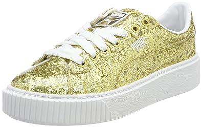 Puma Basket Platform Glitter Wn's Sneakers Women white Damen 3fOZzx8OP