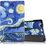 """Infiland Huawei MediaPad M3 8.4 Case, Tri-Fold Ultra Slim Stand Smart Case cover for Huawei MediaPad M3 8.0 Octa Core 8.4"""" Android Tablet, Starry Night"""