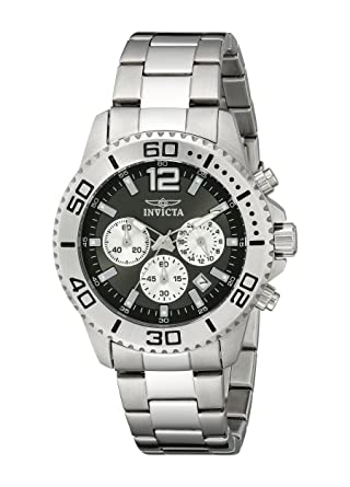 Invicta Mens 17398 Pro Diver Analog Display Japanese Quartz Silver Watch