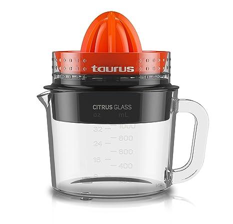 Taurus Citrus Glass-Exprimidor (rotación de Doble Sentido, Capacidad Total 1 l)