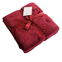 Caitlin White Throw Blanket for Couch/Sofa/Bed,Luxury Super Soft Microplush Velvet