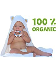 Organic Extra Soft Bamboo Hooded Baby Towel |Beach and Bath Towel |Antibacterial and Hypoallergenic| Highly Absorbent & Sized for Infant and Toddler(90 * 90 CM) | 500 GSM | by Joli Jodi