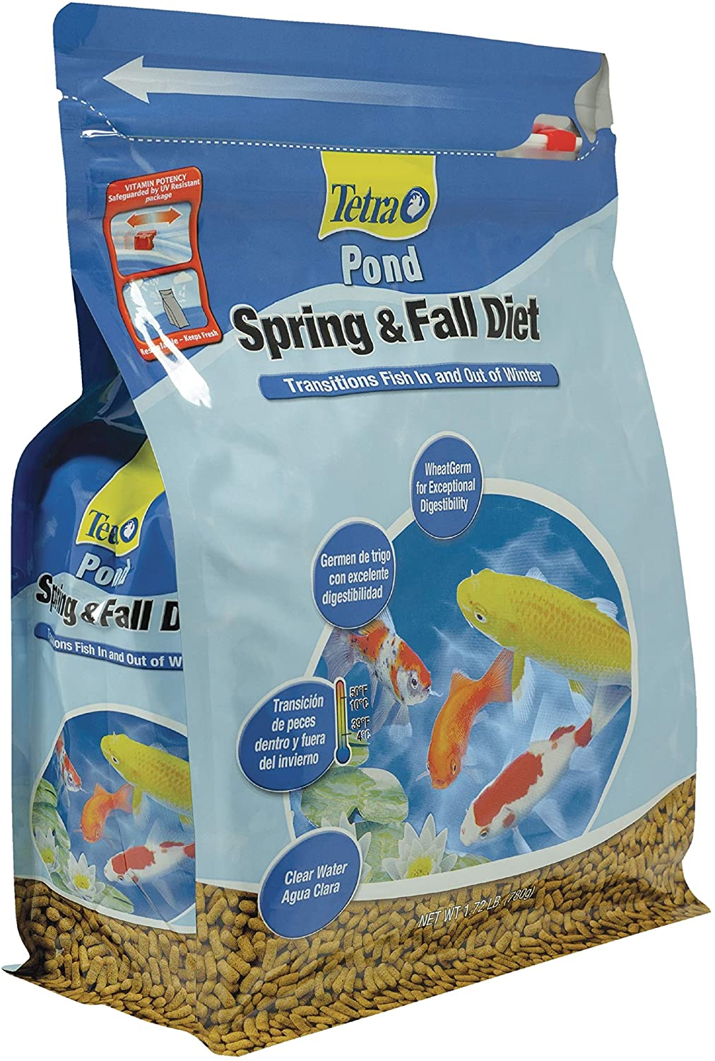 TetraPond Spring & Fall Diet Floating Pond Sticks, 1.72-Pound