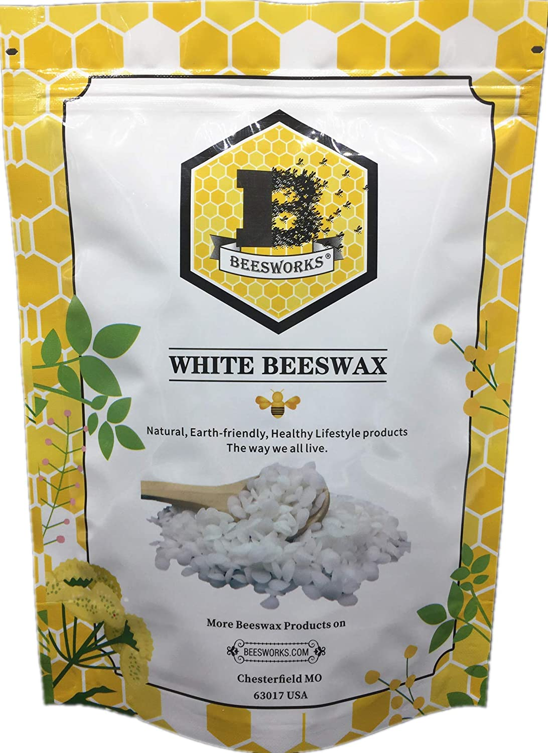 1-lb Pure White BEESWAX Pellets-100% Pure
