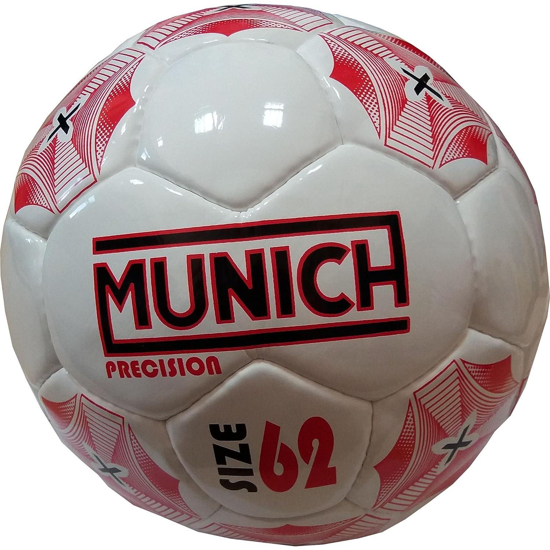 Munich Precision Balón de Fútbol Sala, Blanco/Rojo, Talla Única Talla Única 5001057