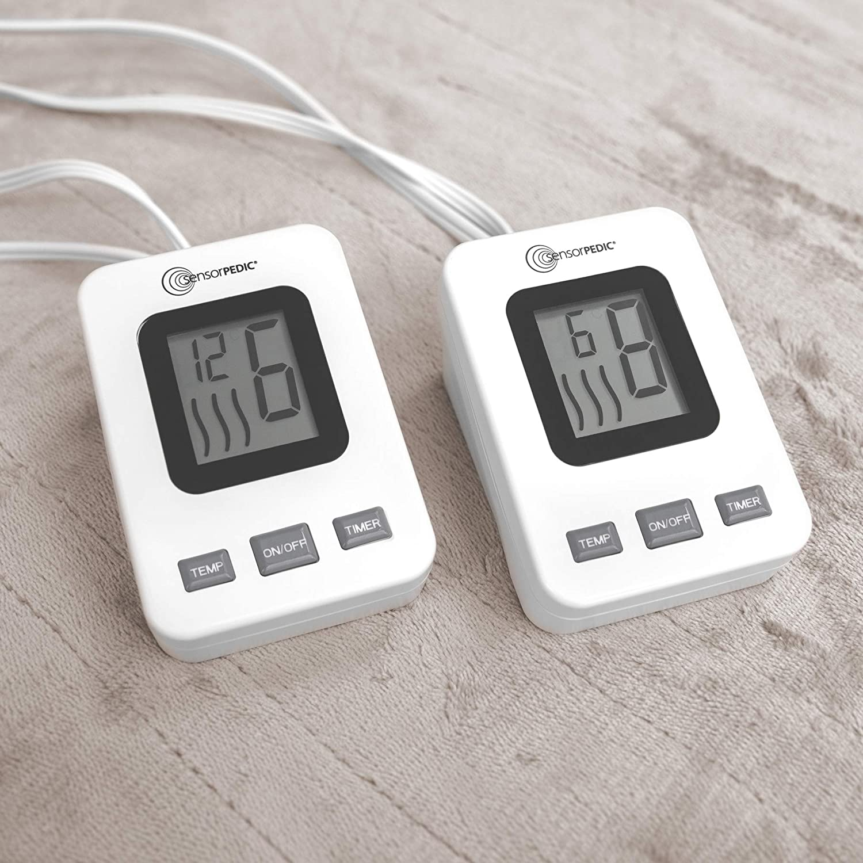 Cappuccino Full SensorPedic Heated Electric Blanket with Sensor-Safe