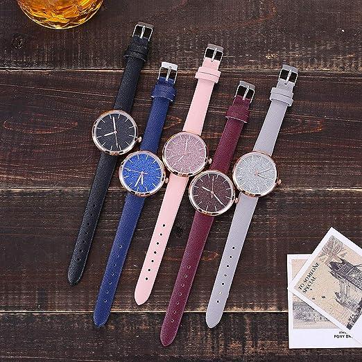 Amazon.com: ZODRQ Reloj de pulsera para mujer, de malla ...