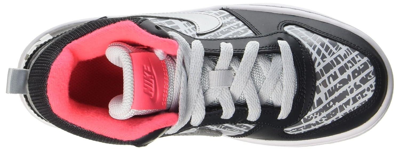 Nike Court Borough Mid PRNT GG Zapatos de Baloncesto para Ni/ñas