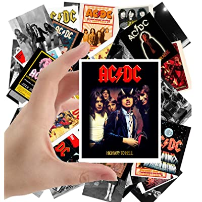 "Large Stickers (24pcs 2.5""x3.5"") AC/DC Rock Music Posters Photos Vintage Magazine covers AC DC: Toys & Games"