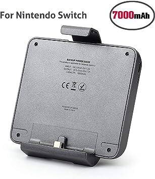 Chinsion Batería Externa para Nintendo Switch, batería del Interruptor de Nintendo 7000mAh batería de Interruptor de Nintendo extendida (Cubierta Parcial): Amazon.es: Electrónica