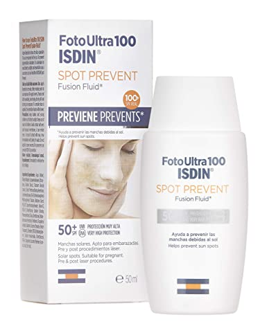 ISDIN Foto Ultra 100 Spot Prevent Fotoprotector Facial Fluido (SPF 50+) - 50 ml.: Amazon.es