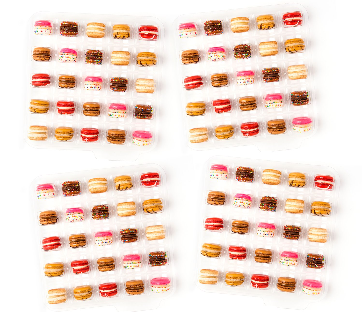 Baked by Melissa Macarons The Mac - Double Stuffed Assorted Bite-Size Macarons, 100 Count