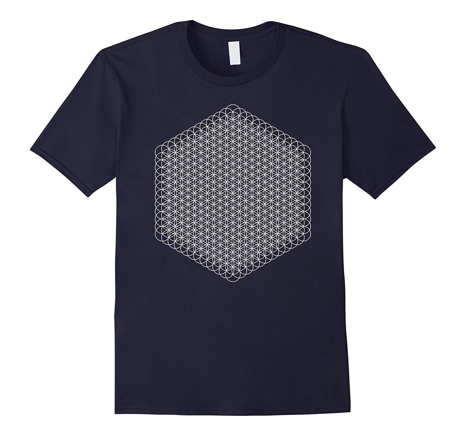Flower Of Life - 12 High Energy Level in white T-Shirt-TH