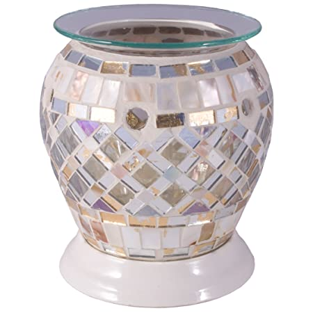 Flame and Fragrance Gl Mosaic Electric Scented Melt Holder ... on