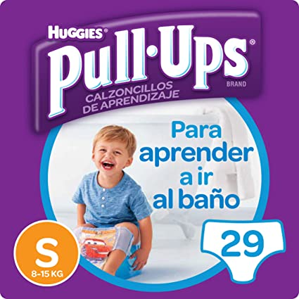 Huggies Pull-Ups - Calzoncillos de aprendizaje para niños, talla S (8-